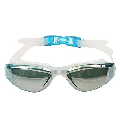 SUPOW(TM) Newest Adjustable Colorful Adult Waterproof Electroplating Anti-fogging Anti UV Protection Swimming Dive Glasses Eyeglasses Eyecup Eyewear Swimming Goggles for Men Women - Eyewear Diva