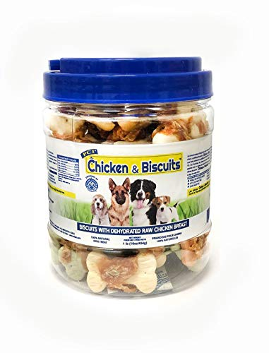 Pet Center Dpc88160 1-Pound Natural Giant Chicken Wrapped Dog Biscuits, Small