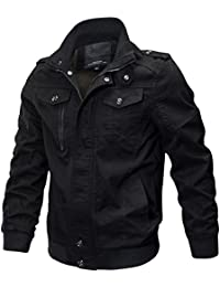Men's Cotton Military Jackets Casual Outdoor Coat Windbreaker Jacket