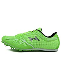 HEALTH Womens Mens Sprint Track & Field Shoes Spike Running Mesh Breathable Professional Sports Shoes 166