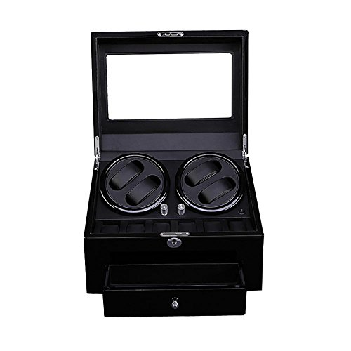 KAIHE-BOX Watch Winders for automatic watches Winder storages box Display Box Case (4+6) Quiet Mabuchi Motors by KAIHE-BOX (Image #2)