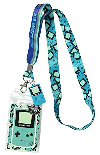 Nintendo Gameboy Color Lanyard ID Holder with 2