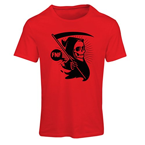 T shirts for women Death with sickle, the grim reaper - Halloween outfits, cosume ideas (XX-Large Red Multi Color) (Couple Cosumes)
