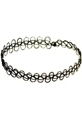 3 Pack Of Tattoo Stretch Choker Necklaces (Black)