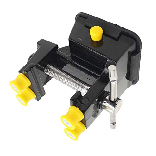 MagiDeal Mini Metal Home Use Vise Rubber Bottom Bench Vice Engraving Tool Woodcraft Vice Clamp Combination Pipe Walnut Carving