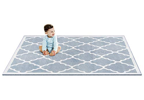 Designer Baby Play Mat - Thick Playmat Baby Mat with Non-Toxic Safety Soft Foam - Baby Floor Mats Tiles Gym for Infants, Babies, Crawling, Toddlers, Playing Kids Nursery Moroccan Rug