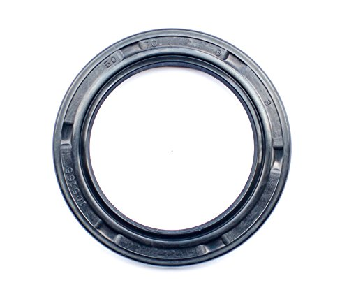 Oil Seal and Grease Seal TC 50X70X8 Rubber Double Lip with Spring 50mmX70mmX8mm (2 Pieces) by EAI Parts
