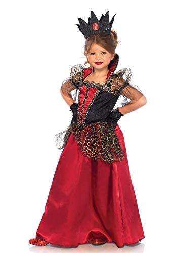 Leg Avenue's Girl's Wonderland Queen Costume, Red/Black, Small -