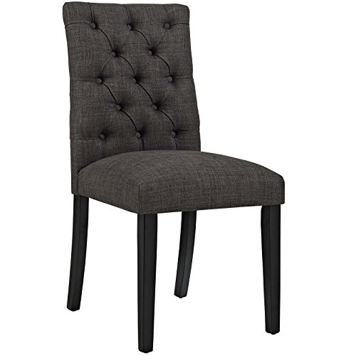 - Modway Duchess Modern Elegant Button-Tufted Upholstered Fabric Parsons Dining Side Chair in Brown