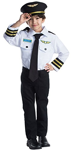 (Airline Pilot Role Play Set Costume for Kids By Dress Up America - Ages)