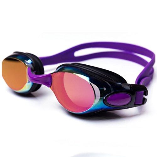Ispeed Mirror Pro Swim Goggle (Purple/Black)