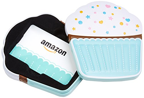 Amazon.com Gift Card for Any Amount in a Birthday Cupcake Tin (Birthday Cupcake Card Design)