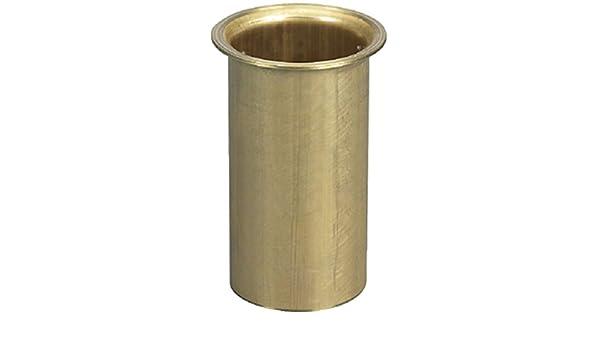 "Boat Marine Brass Flanged Drain Tube 1/"" x 3/"""