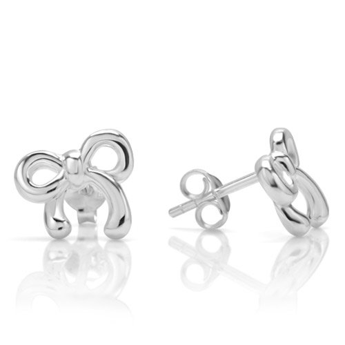 Sterling Silver Cute Ribbon Earrings product image