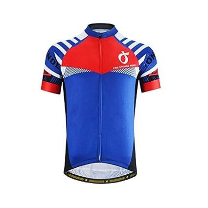 Buy SRS Summer Men Cycling Jersey Mavic Pro Team Short Sleeve -Blue ... 7221599cb