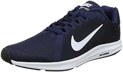 Nike Men's Downshifter 8 Running Shoes, Midnight Navy/White-Dark Obsidian-Black, 8 US