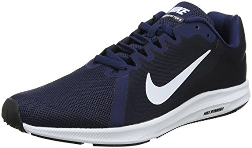 Nike Men's Downshifter 8 Running Shoe Midnight Navy/White/Dark Obsidian/Black Size 11 M US ()