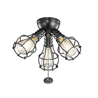 Kichler 370041SBK Fan Light Kits Industrial 3 Light Fixture