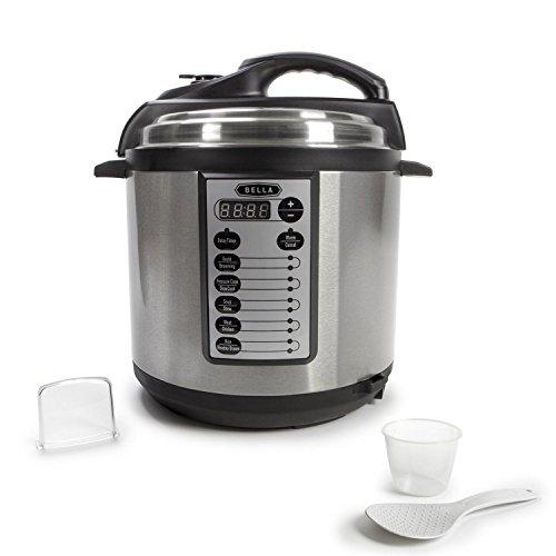 BELLA BLA14467 Pressure Cooker Multi-Function, 6 quart, Sil