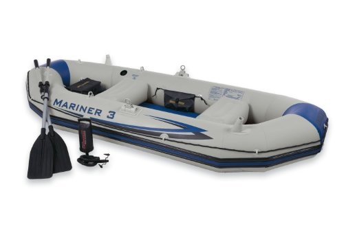 Intex Mariner 3 Boat Set, Grey, Outdoor Stuffs