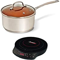 NuWave 3qt Duralon Ceramic Non-stick Saucepan w/Induction Cooktop w/10.5 Pan