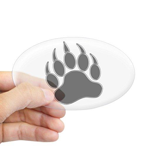 f32e1cfa721a CafePress Gay Bear Pride Gay Bear Paw Oval Bumper Sticker, Euro Oval Car  Decal