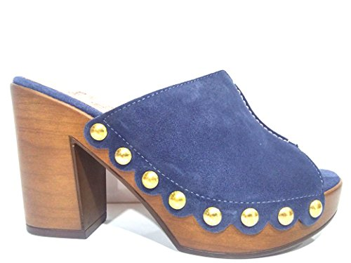 Mujer Azul WONDERS Zueco Sandalias 9121 L 56qRxOwz