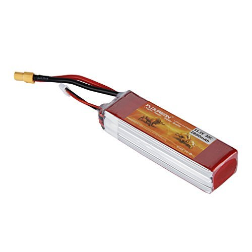 FLOUREON 3S 11.1V 2800mAh 35C Lipo Battery Rechargeable RC Battery with XT60 Plug for FPV Drone, RC Airplane, Helicopter, RC Car, Truck, RC Boat, DIY RC Hobby and More (Jst Lipo 35c Battery)