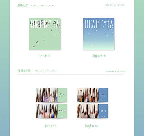Off The Record IZONE IZONE - HEARTIZ [Sapphire ver.] (2nd Mini Album) 1CD+106p Photobook+Clear Sleeve+Mini Photobook+2Photocards+Pop-up Card+Folded Poster+Double Side Extra Photocards Set by Off The Record (Image #3)