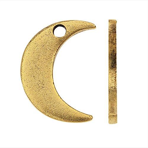 Nunn Design Flat Tag Charm, Crescent Moon