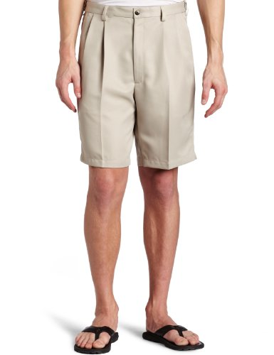 Haggar Men's Big-Tall Cool Gabardine Pleat Front Short, String, 52 by Haggar