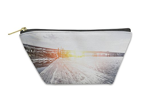 Gear New Accessory Zipper Pouch, Road On Water And Steel Bridge In Portland, Large, 5626756GN