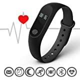 Stealkart Xiaomi Mi Redmi Note 5 / Note 5 Pro/Note 6/ Redmi 6A/ Mi 3 Compatible M2 OLED Screen Band with Live Heart Rate Monitor, Smart Band Waterproof, Activity Tracker Steps, Calories Counter