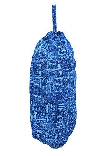 (Plastic Grocery Bag Holder and Dispenser - Dogs (Modern Art Blue))