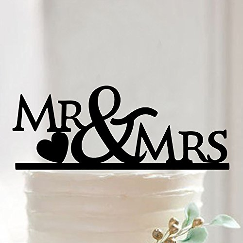 Wedding Acrylic Cake Topper Party Favors Silhouette Decor - 3