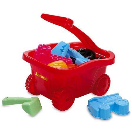 Lillian Vernon 6-Piece Personalized Red Plastic Wagon Set