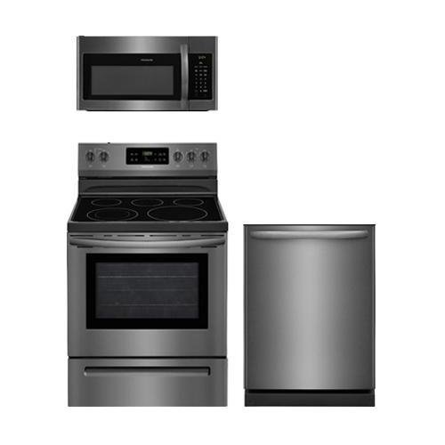 Frigidaire 3-Piece Black Stainless Steel Kitchen Package Wit