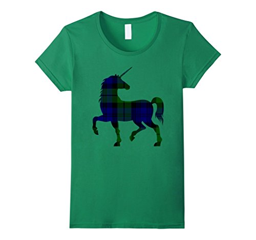 Women's Scottish Black Watch Plaid Unicorn Lovers T-Shirt...