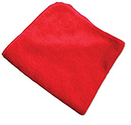 O\'Cedar Commercial 96065 MaxiPlus Multi-Purpose Microfiber Cloth, Red (Pack of 12)