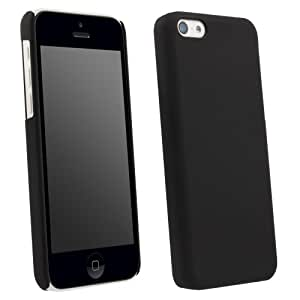 Black Rubberized Protective Shield compatible with Apple iPhone 5c
