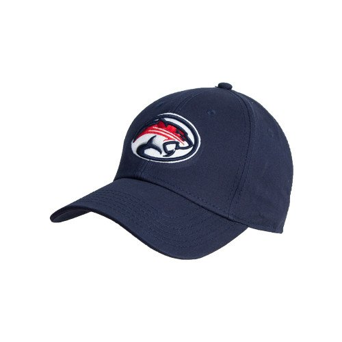 Houston Cougars Navy Heavyweight Twill Pro Style Hat 'Cougar Head']()