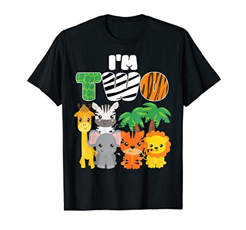 I'm Two Zoo Theme 2nd Birthday Shirt