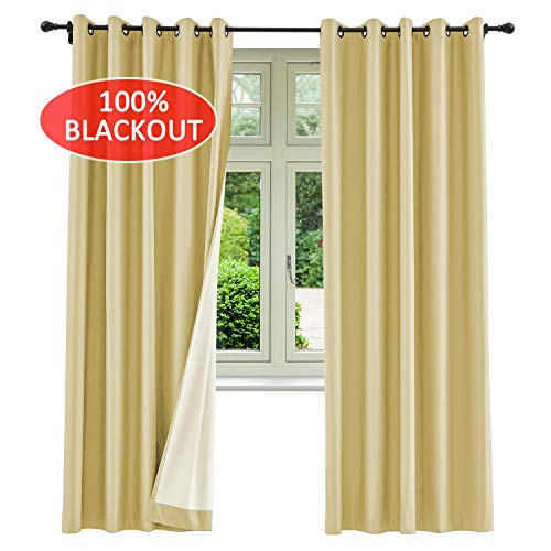 Saba Collection - cololeaf Khaki Curtain Fabric Swatch (1 Fabric), 100% Blackout Curtain Saba Collection (Purchase Quantity reaches 5, The Price Will be Automatically Reduced to $19.99.)