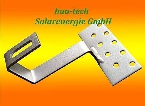 20 Stück Edelstahl - Dachhaken A2 für Dachsteine, Dachpfannen, Solar PV Montage von bau-tech Solarenergie GmbH