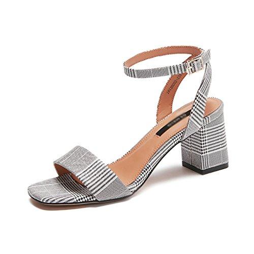 Venta caliente 2018 YLLXZ Zapatos de mujer Sandalias de tacón alto  Primavera y verano Gruesas con 93e83a728f37