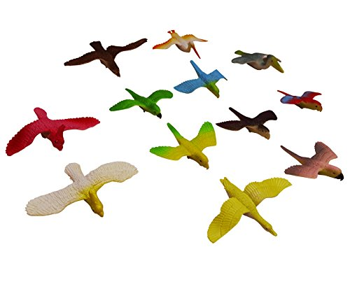 Plastic Artificial Bird Set of 12pcs For Model Making, Schoo