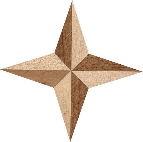 Holzintarsie Stern gro/ß 180 mm Qualit/ät aus Europa seit 1998