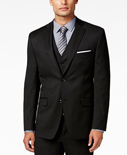 Alfani Suited for Travel Slim Fit Black Solid Two Button New Men's Sport Coat (36 Regular) Alfani Jacket