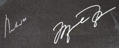 Muhammad Ali & Michael Jordan Signed 30x40 Canvas #5A26541 PSA/DNA Certified Autographed NBA Art