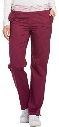 - Dickies Essence Women's DK140 Mid Rise Pull-on Pant- Wine- Medium